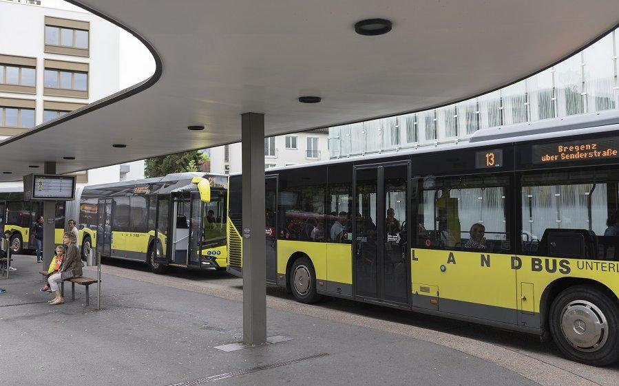 Foto vom Busbahnhof in Dornbirn