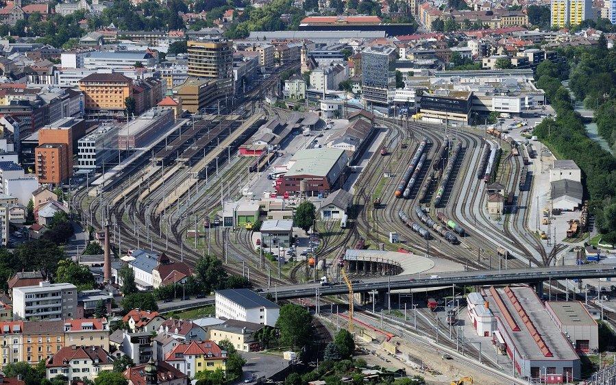 Foto vcm Bahnhofsgelände in Innsbruck