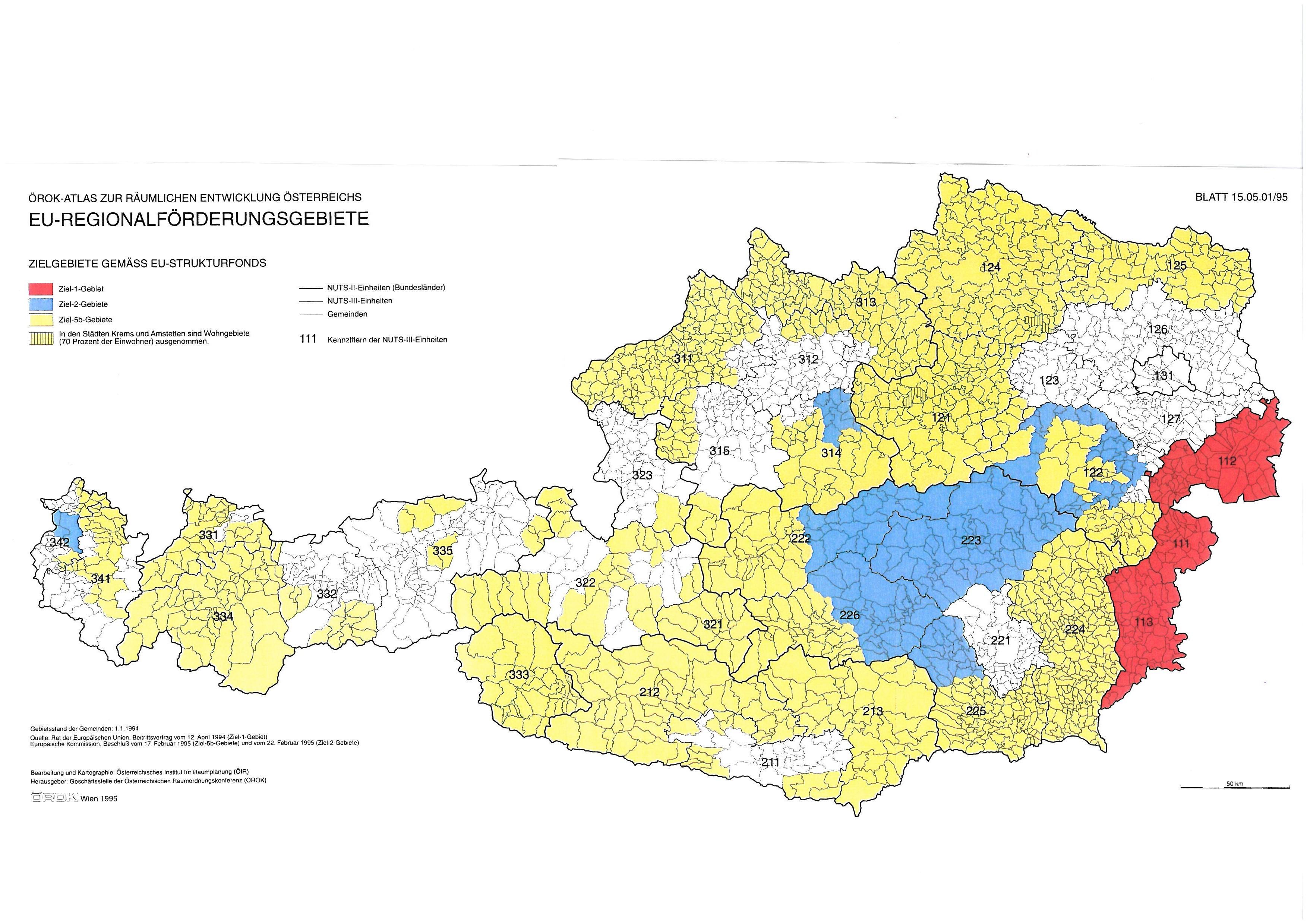 Forderfahige Regionen Raumordnung Und Eu Regionalpolitik In